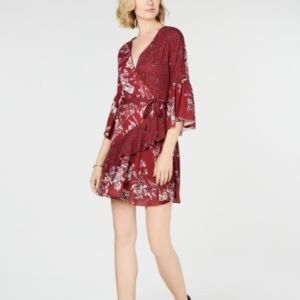 French Connection floral wrap dress size 8